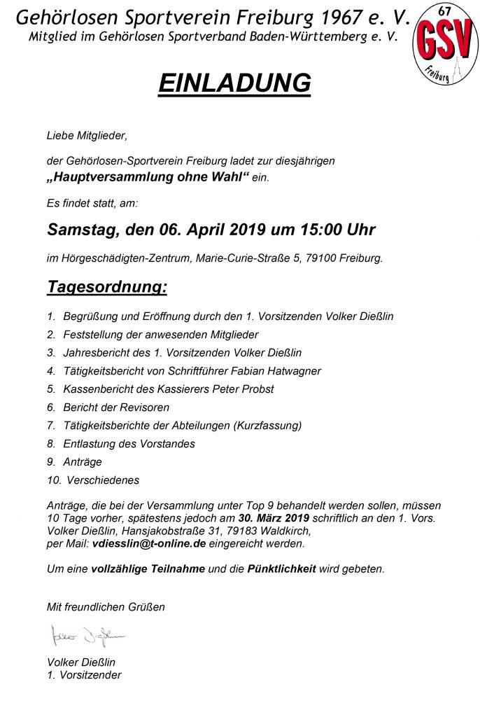 Willkommen Gsv Freiburg Ev Zuhause Hauptversammlung Ohne Wahl